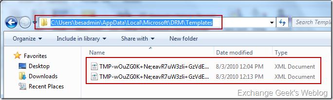 EXBlog: Installing Windows 2008 R2 ADRMS and Configuring for
